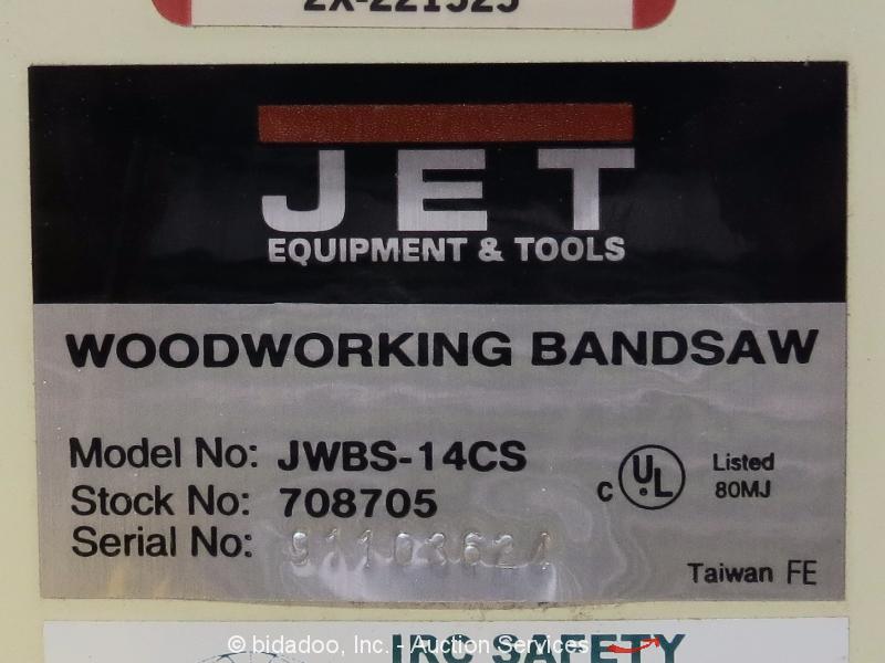 "JET JWBS-14CS Vertical Band Saw 14"" Wood/Metal Bandsaw w ..."