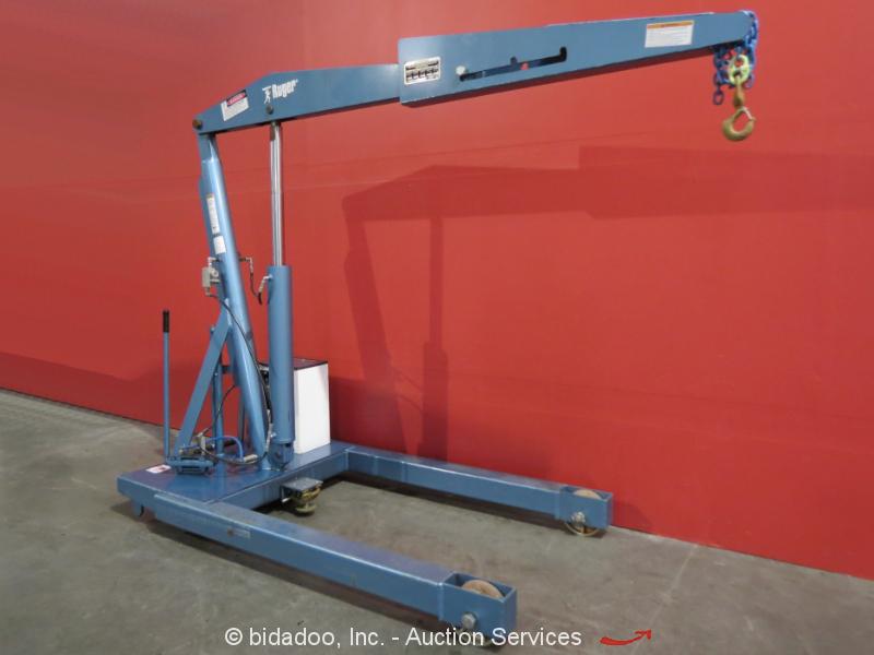 Ruger HP-PP10 Manual Electric Engine Hoist Cherry Picker Floor Crane 6000 LB Cap   eBay