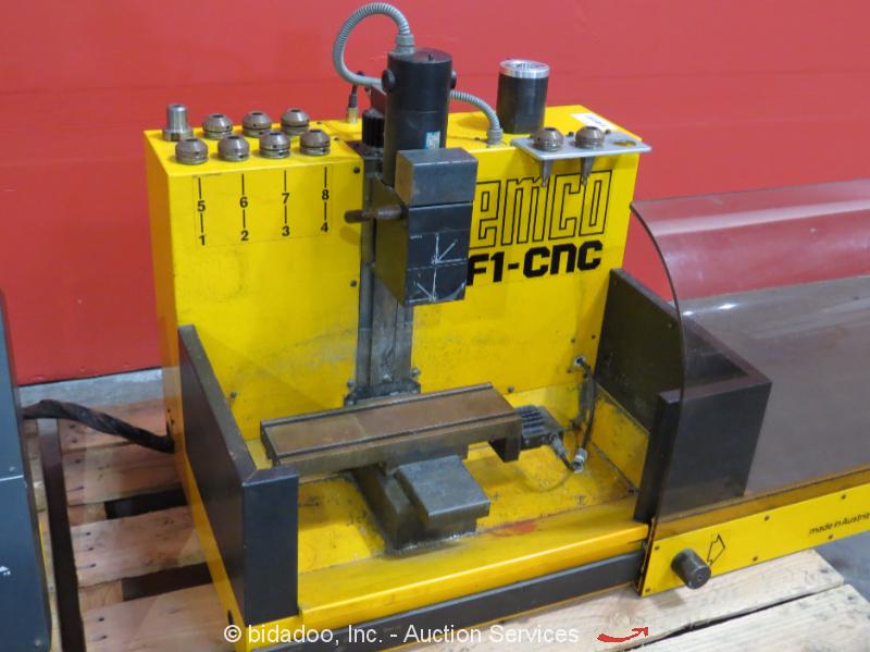 Emco F1 Cnc Bench Top 3 Axis Mill Milling Machine W Control 110v 1ph Bidadoo Ebay