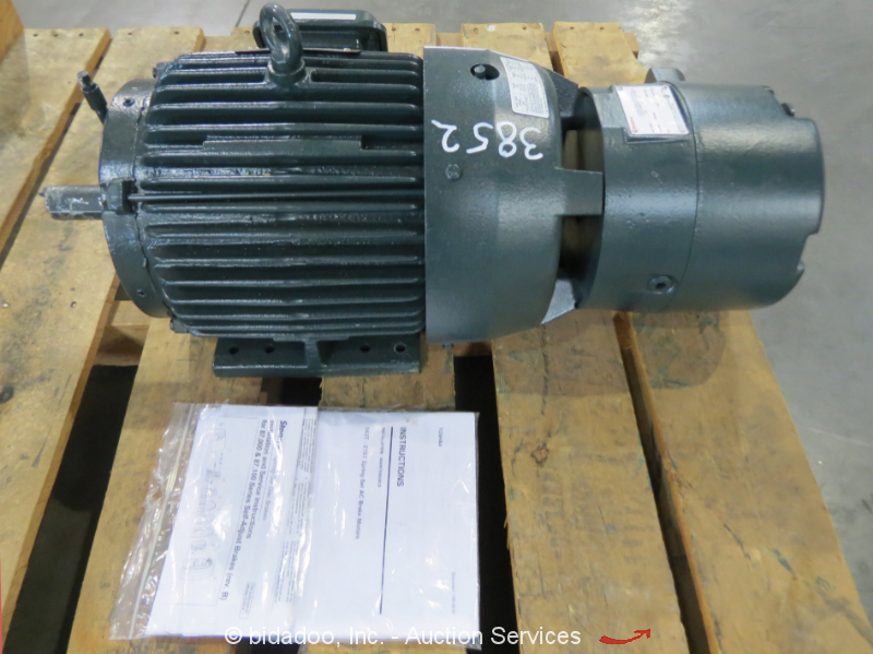 toshiba 215t electric motor 10 hp 460 volt stearns 50 ft