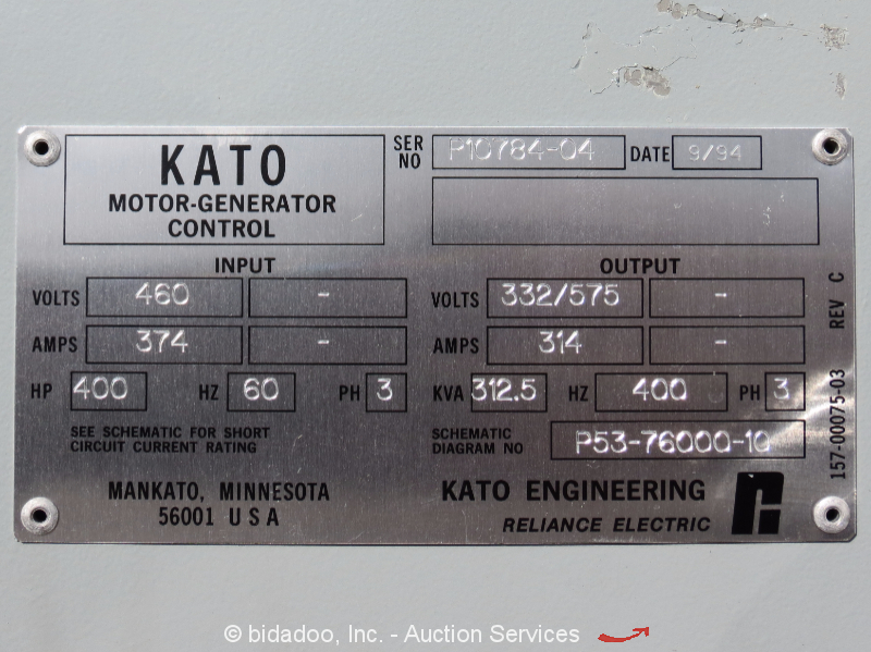 Kato engineering 250kw 400 hz synchronous motor generator for What is found in a generator and motor