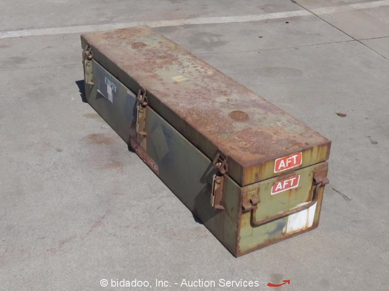 Lot Of 5 Heavy Duty Military Rocket Box Storage Steel