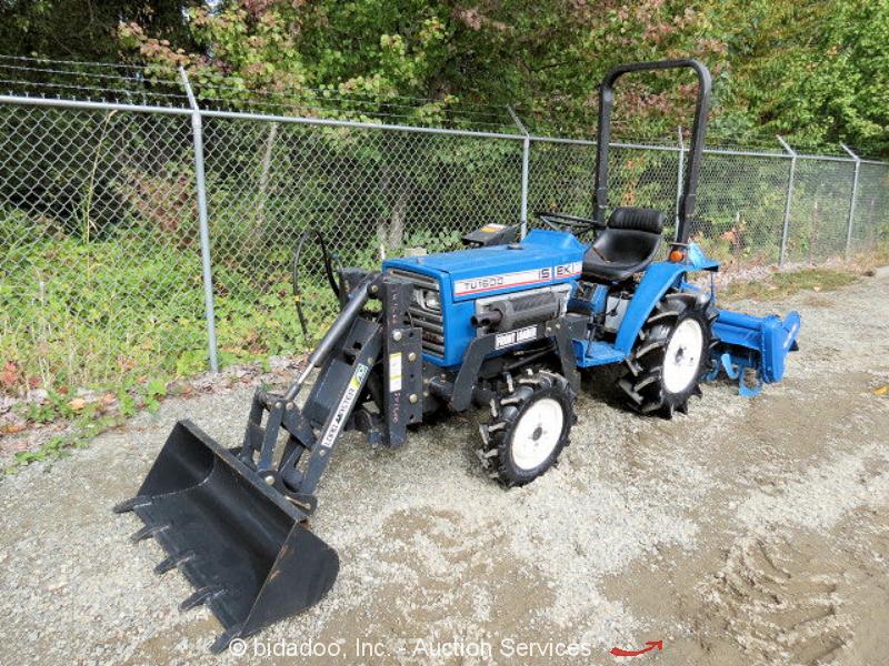 Iseki Diesel Tractor : Iseki tu tractor wd spd diesel pto quot rear tine