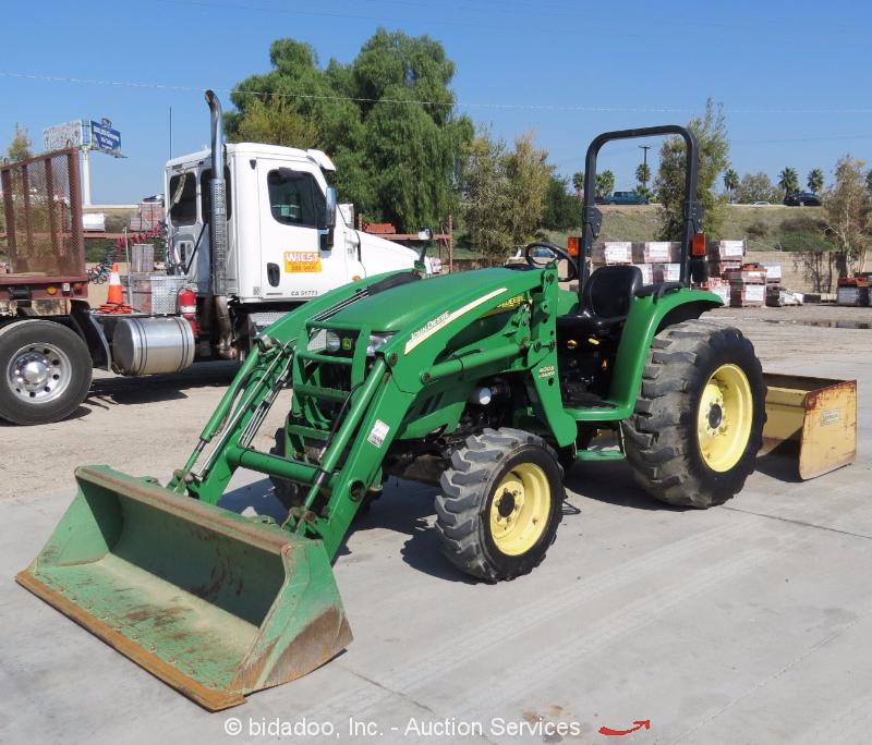 2004 John Deere 4120 4wd Skip Loader Tractor Box Scraper