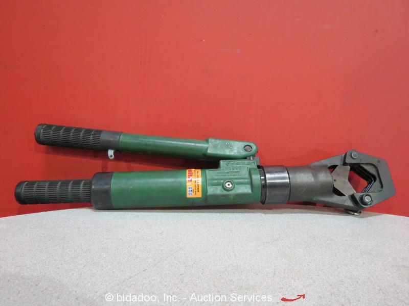 greenlee 1990 adjustable manual hydraulic dieless terminal crimping tool w case ebay. Black Bedroom Furniture Sets. Home Design Ideas