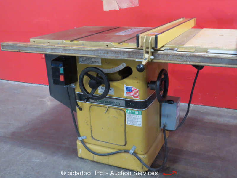 Powermatic 66 industrial table saw 10 blade 3 hp biesemeyer fence guard bidadoo ebay Table saw guards
