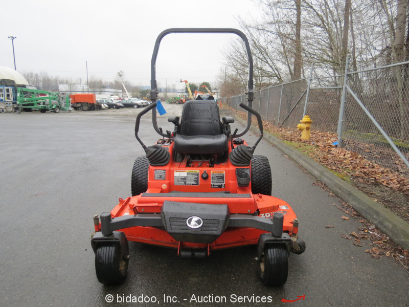 Lawn Mower Diesel : Kubota zd zero turn quot deck riding lawn mower diesel