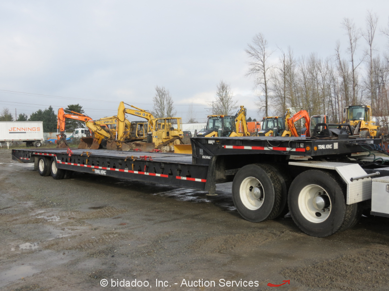 2005 Trail King Tk70ht A Hydraulic Dove Tail Equipment Trailer Winch