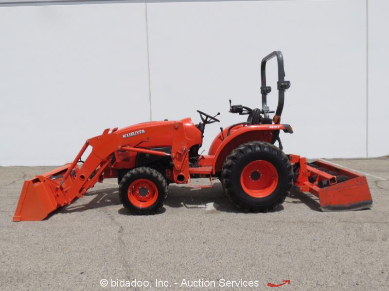 Kubota Box Blade : Kubota l hst wd diesel utility tractor loader box