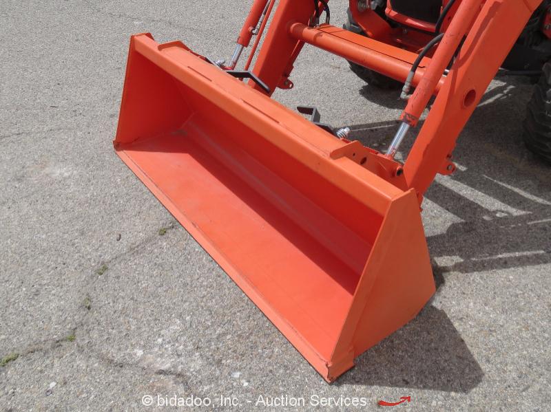 Kubota Tractor Tool Box : Kubota l hst wd diesel utility tractor loader box