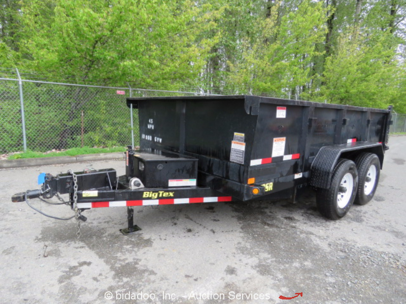 2016 Big Tex Sr10 A Dump Trailer 10 000 Gvwr Hydraulic Tilt Spreader Gate