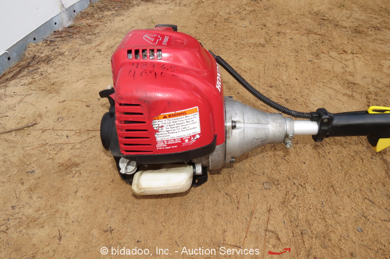 honda line trimmer how to change the line