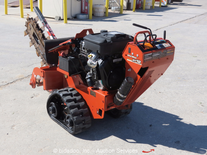 2011 Ditch Witch Rt12 Walk Behind Crawler Trencher Self