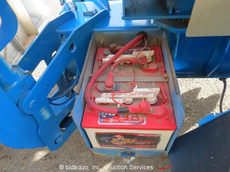 2003 Genie Tz34  20 34 U0026 39  Electric Towable Boom Lift Mobile