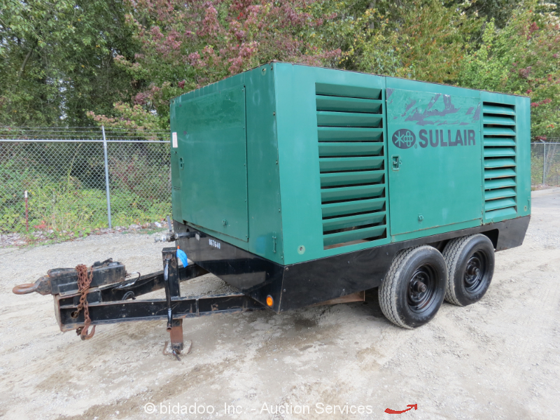2002 Sullivan 900hdto 900cfm Towable Air Compressor