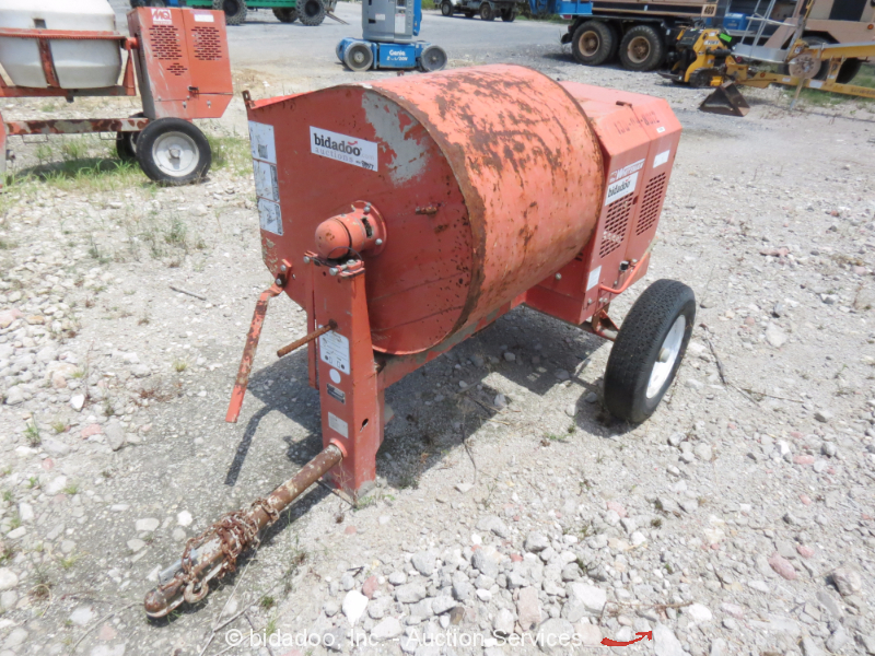 Cement Mixer Blades : Multiquip wm sh cu ft tow behind concrete mixer