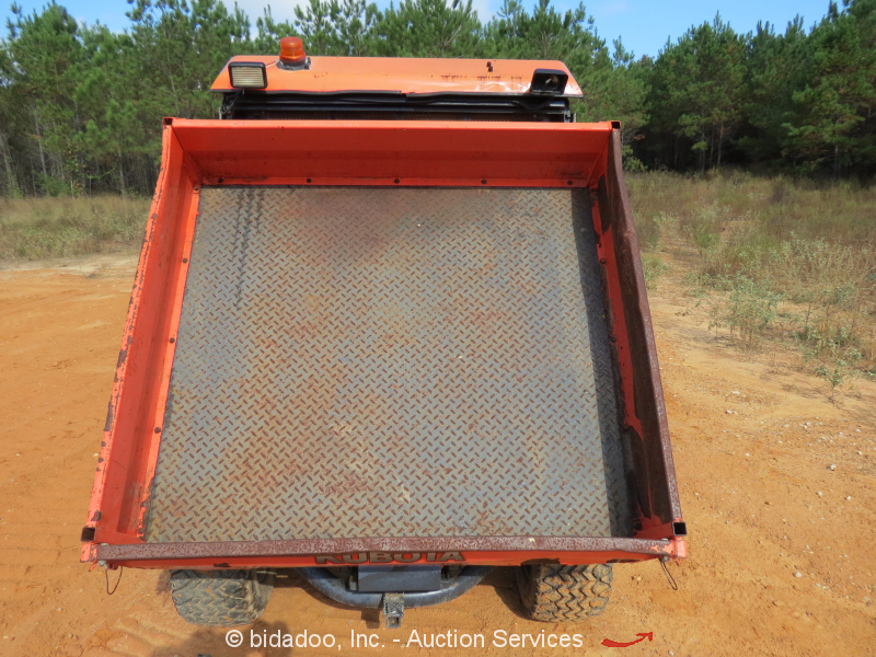 Kubota rtv900 4wd 2 passenger hyd dump bed enclosed cab for Enclosed bed frame