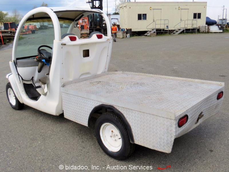 2000 Gem E825 Industrial 72v Electric Utility Flatbed Cart