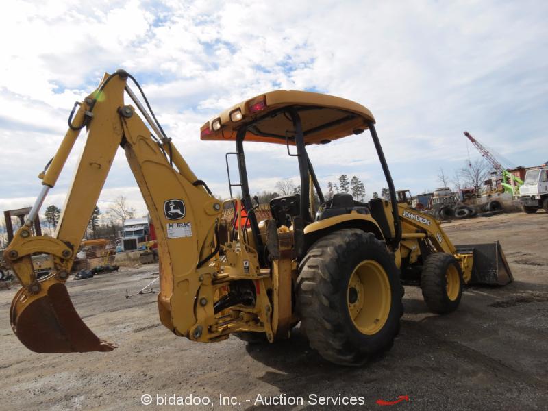John Deere 110 Backhoe : John deere backhoe wheel loader tractor aux