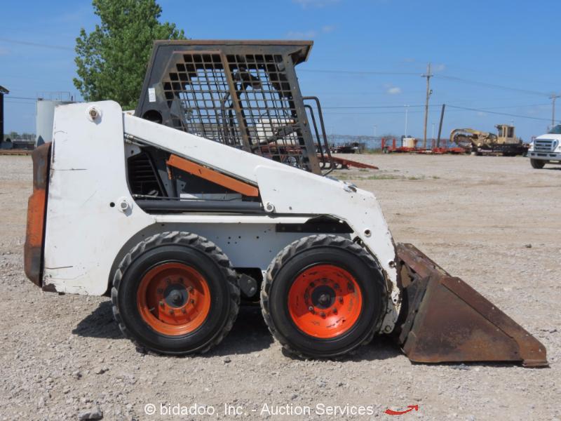 Skid Steer Drivetrain : Bobcat f series skid steer loader quot bucket aux hyd