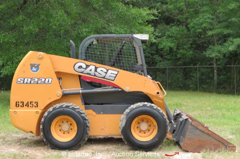 Skid Steer Drivetrain : Case sr skid steer wheel loader tractor aux hyd