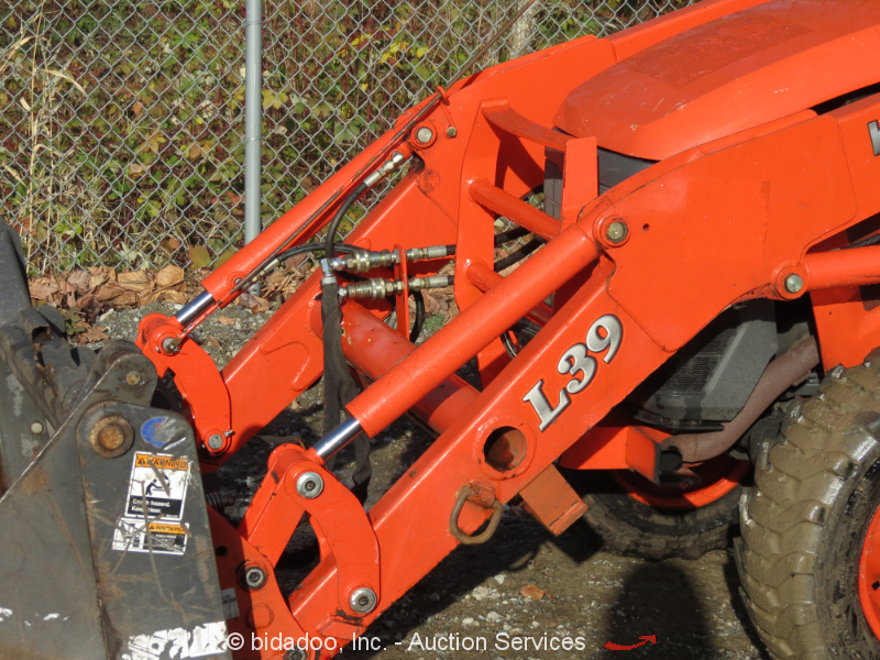 Tractor Bucket Cylinders : Kubota l loader utility ag tractor pto in