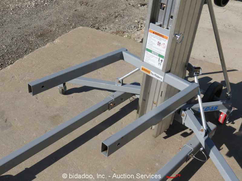2016 Genie Slc 18 18 Material Lift Mast Duct Jack 650 Lb