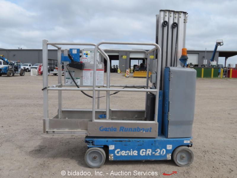 2012 Genie Gr 20 20 Electric Mast Lift Personnel Man