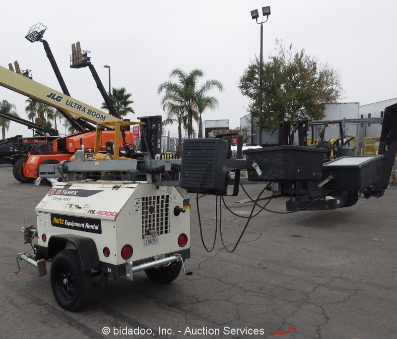 Light Tower United Rentals: Terex RL4000 Towable Light Tower Generator Single Axle