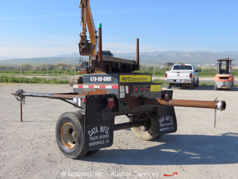 2011 datamfg utility tractor tow pipe dolly trailer bidadoo ebay