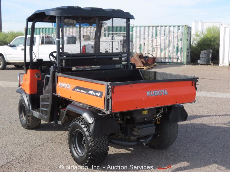 2013 Kubota RTV900 4WD Utiity All Terrain Vehicle 4x4 Dump ... |Kubota All Terrain Vehicles