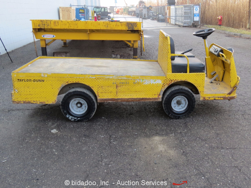2011 dunn b0 248 36 industrial flatbed electric utility cart 2 passenger ebay
