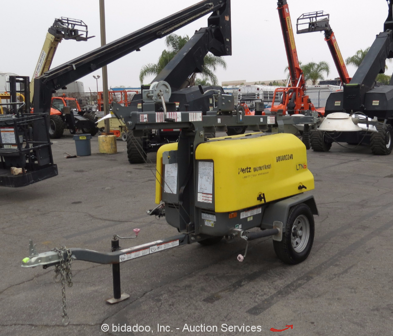 Light Tower United Rentals: 2013 Wacker Neuson LTN6L Towable Light Tower Generator Bidadoo