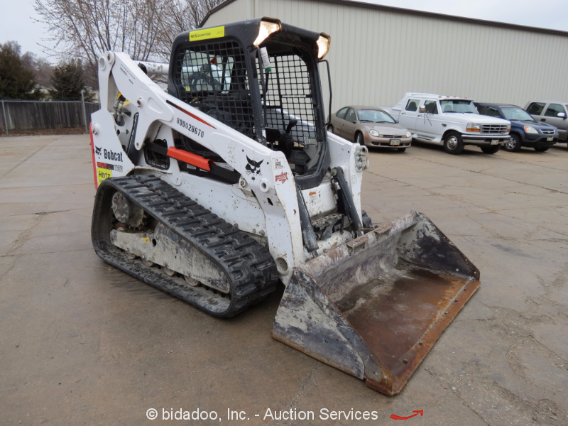 bobcat t skid steer track loader crawler diesel aux hyd view all 39 photos