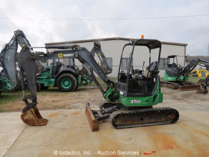 2011 John Deere 35d Mini Excavator Rubber Tracks Q C Aux
