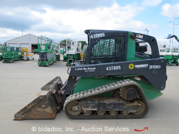 2012 John Deere 319d Skid Steer Wheel Track Loader Crawler