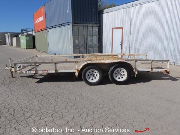 Wood Flatbed Trailer ~ Big tex la flatbed tandem axle utility wood