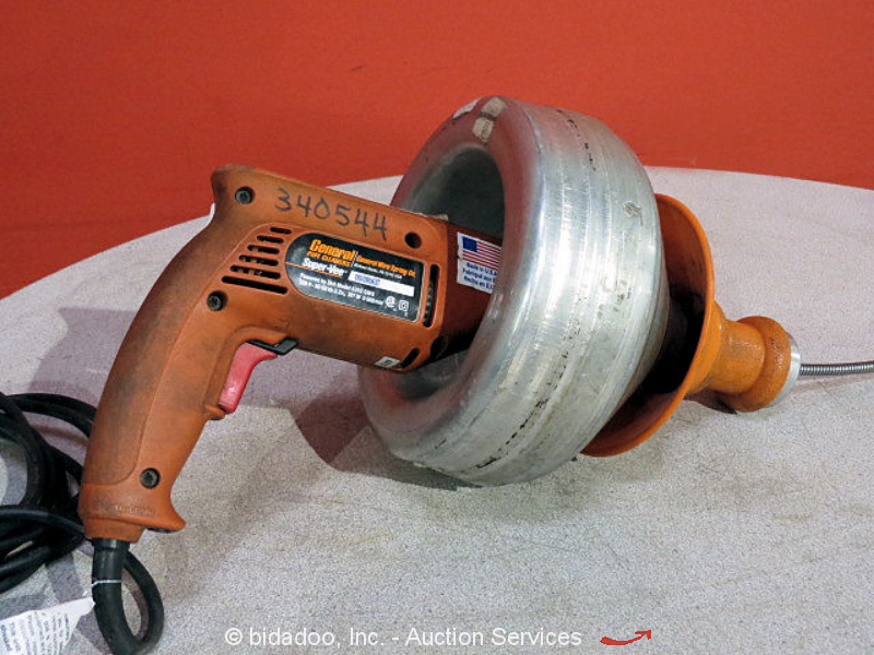 General Super Vee Electric Drill Powered Plumbing Sewer