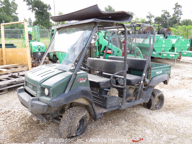 2012 kawasaki mule 4010 4wd diesel utility cart utv dump bed