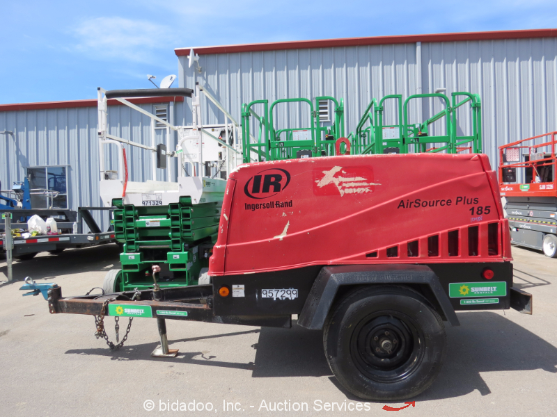 2007 Ingersoll Rand Airsource Plus Pds185 185 Cfm Towable