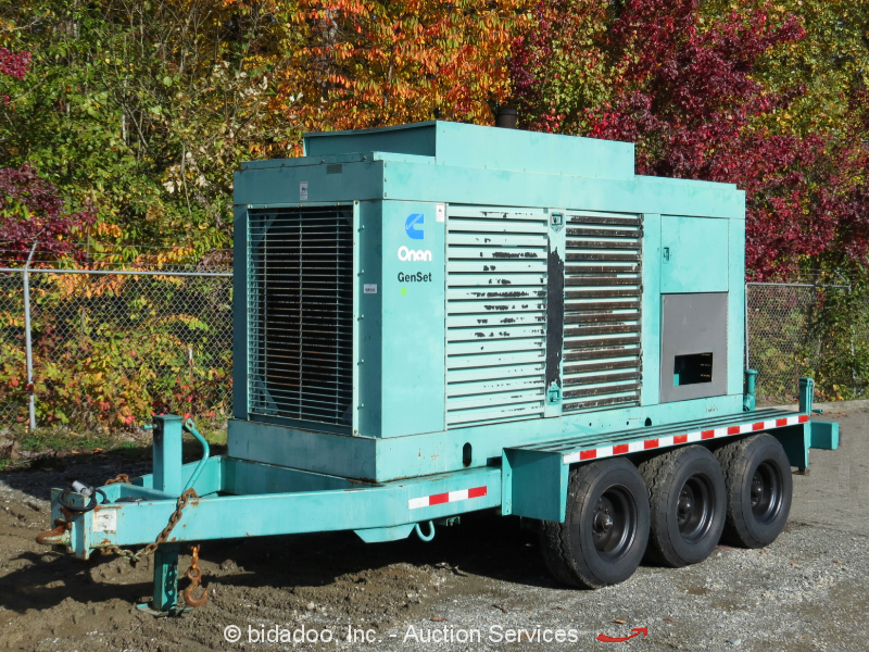 Cummins/Onan 350DFCC 350 KW Towable Generator 437.5 KVA Standby Genset bidadoo