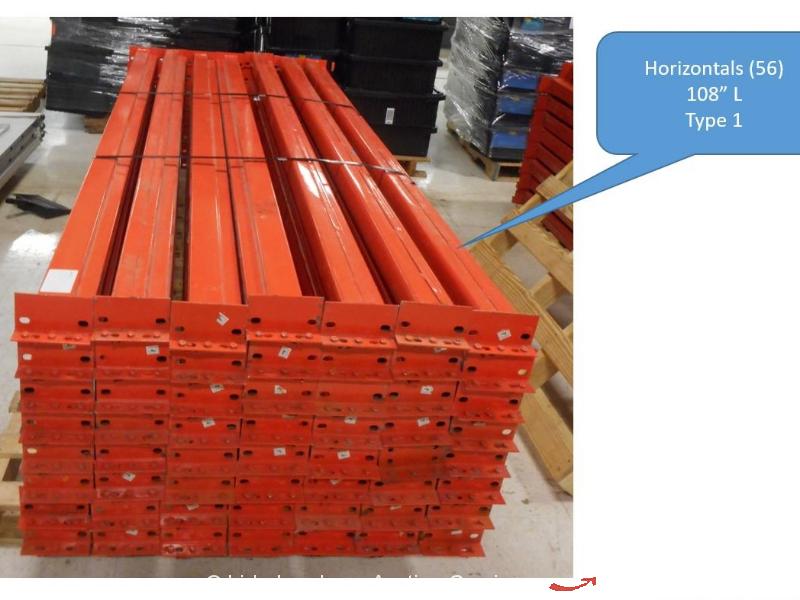 Large Lot of Pallet Racking Racks Vertical Horizontal Plank Screen Rack bidadoo