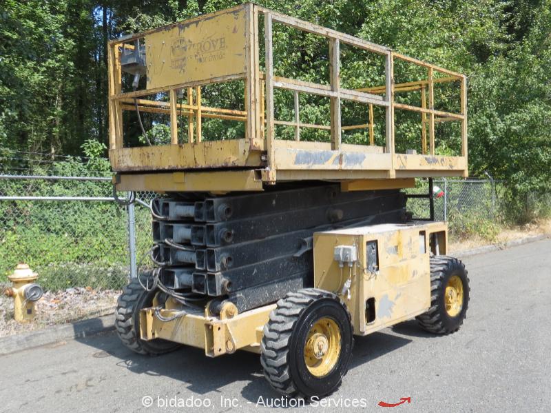 grove sm4688xt 40 4wd dual fuel rough terrain scissor lift man rh ebay com
