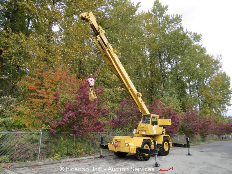 Grove RT522 22-Ton Rough Terrain Hydraulic Crane 70' 3-Section Boom Cummins Jib