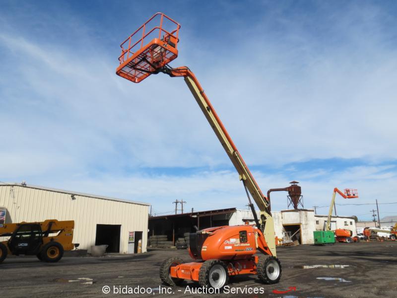 2006 JLG 600A 60' 4WD Dual Fuel Articulating Boom Lift Man Aerial Skypower
