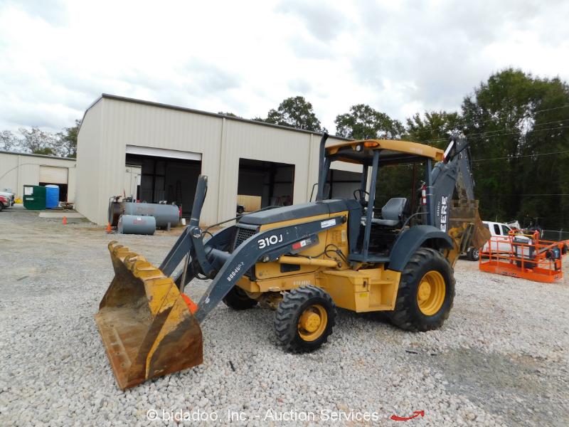 """2011 John Deere 310J 4WD Backhoe Wheel Loader Tractor 36"""" Bucket 4x4 bidadoo"""