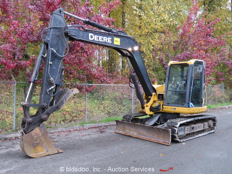 2011 John Deere 85D Hydraulic Midi Excavator Cab Heat A/C Hyd Thumb Q/C bidadoo