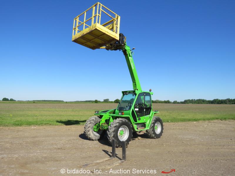 "2010 Merlo P40.7 22' 6"" 8,810 lbs Telescopic Reach Forklift Cab bidadoo"