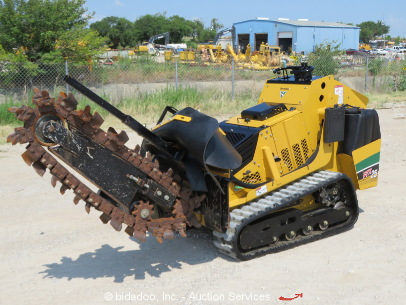 Trencher Results for equipment sold on online auction
