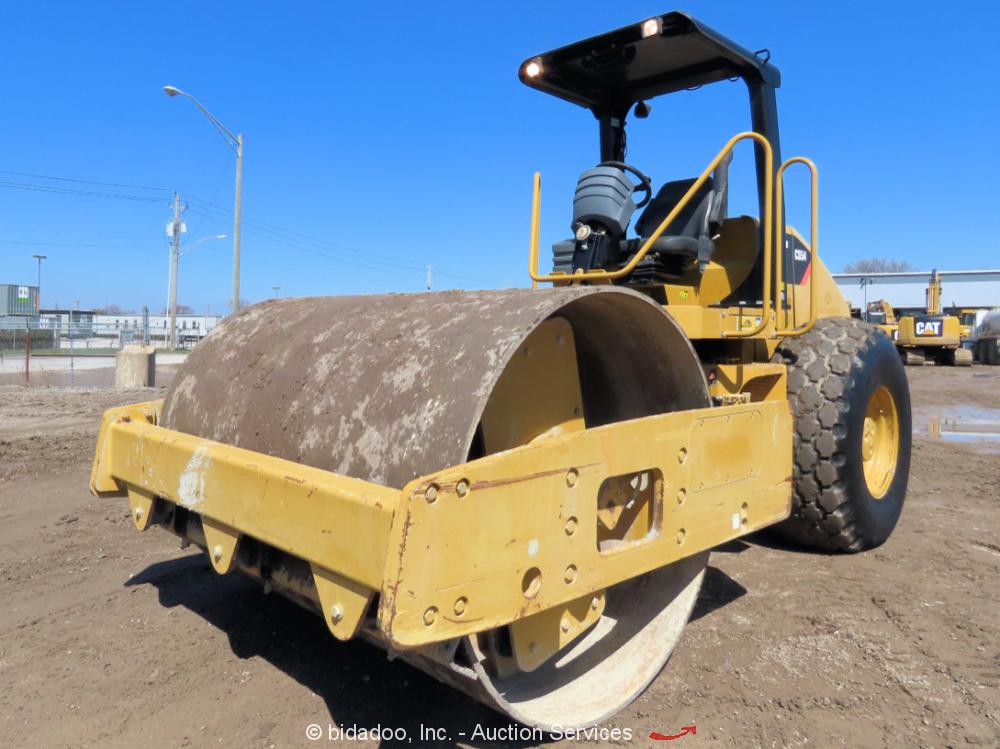 "2010 Caterpillar CS54 84"" Smooth Drum Vibratory Roller Compactor bidadoo"